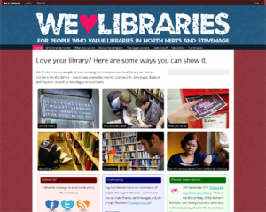 The We Heart Libraries community site
