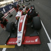 Sam Bird in the Bahrain pitlane (Pic: GP2 media)