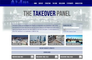 The Takeover Panel front page